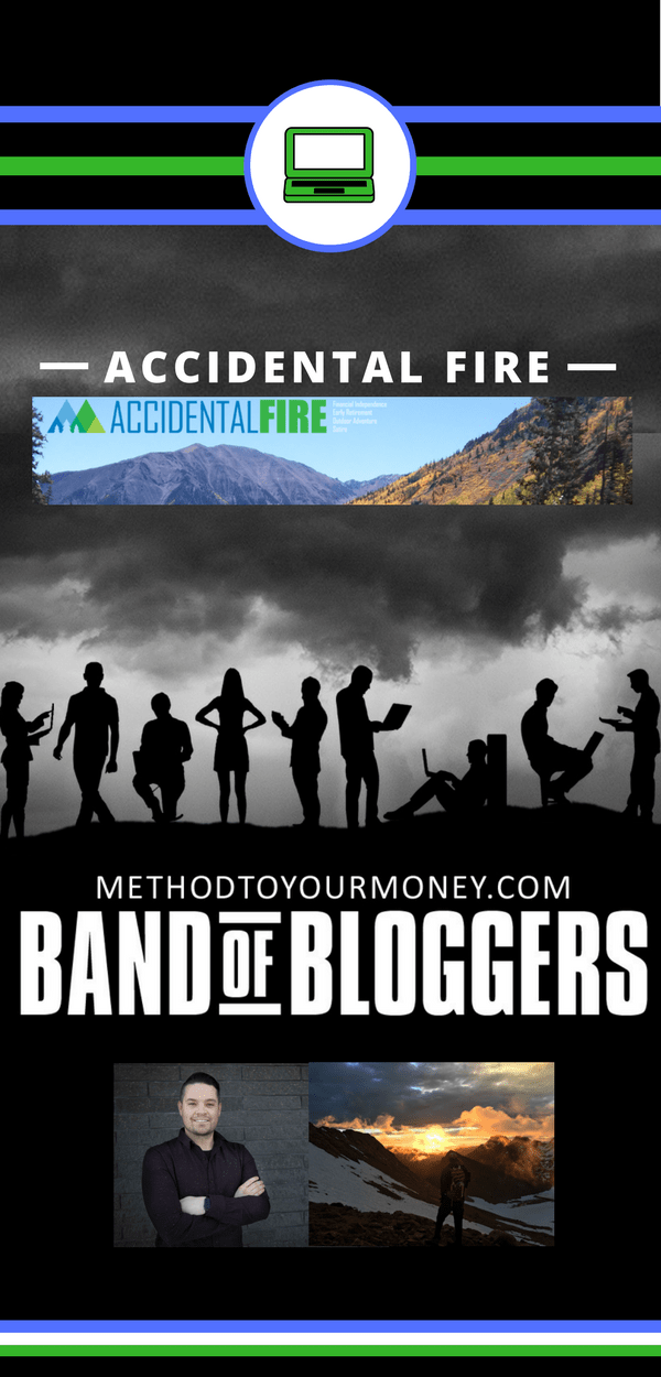 For beginners and experienced bloggers, ideas and tricks for successful writing, SEO, & tools to make money can be easy to find but hard to distill. Band of Bloggers doesn't just give the best blogging tips, but also insightful personal wisdom and ideas from the best bloggers in the business. Today's featured blogger is Mr. Accidental FIRE from Accidental FIRE.
