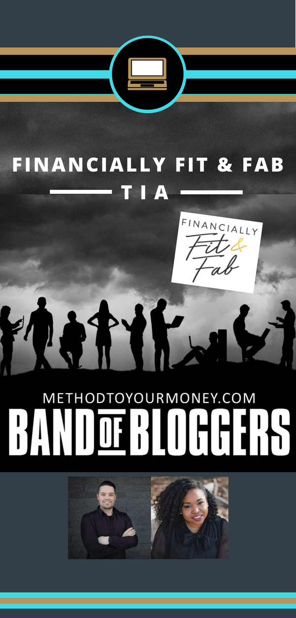 For beginners and experienced bloggers, ideas and tricks for successful writing, SEO, & tools to make money can be easy to find but hard to distill. Band of Bloggers doesn't just give the best blogging tips, but also insightful personal wisdom and ideas from the best bloggers in the business. Today's featured blogger is Tia from Financially Fit and Fab.